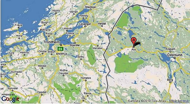 kart over åre i sverige Vil bygge 1.000 hytter i Sverige   Hytteavisen kart over åre i sverige