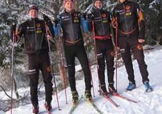 Team statkraft trøndelag på snøsamling. Foto privat.