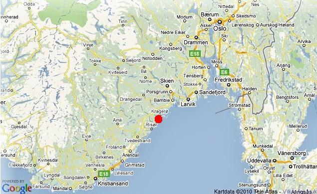 kragerø kart Innbrudd i fire hytter ved Kragerø   Hytteavisen kragerø kart