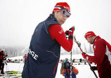 Natrudstilen 06112009. Ole Einar Bj¿rndalen under trenings¿kten for skiskytterne pŒ formiddagen pŒ Natrudstilen ved Lillehammer. Foto: Geir Olsen/VG