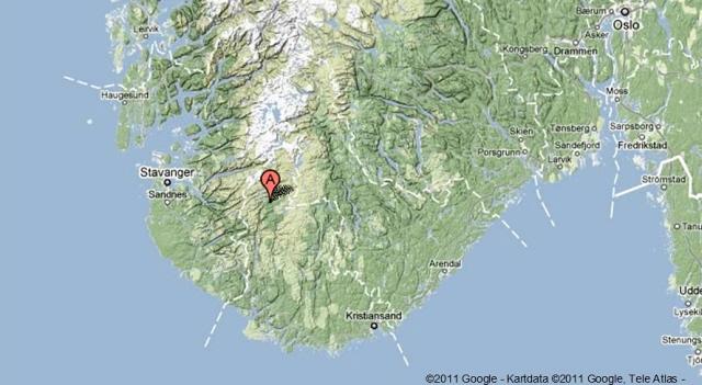 kart over sirdal Brannvesekom på snøscooter   Hytteavisen kart over sirdal