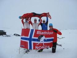 Dette er altså ikke det svenske junior-landslaget i skiskyting!