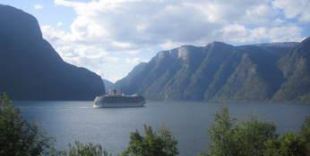 Cruiseskip på Aurlandsfjorden Foto: Hallgeir Høydal