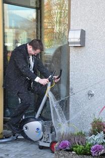 Vitensenteret Ordføreren på sykkel vannrakett