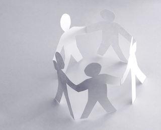 Samarbeid - papirfigurer