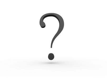 Spørsmålstegn - sort