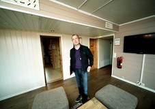 Rolf Mobæk i høydehuset i Trysil