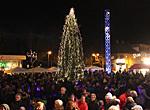 Julegrantenning på Mjøndalen torg