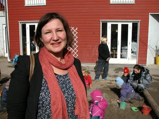 Lena Jensen på Barnehagens Dag