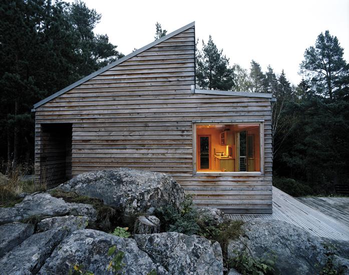 Woody hytte pris
