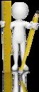 figur med blyant og linjal