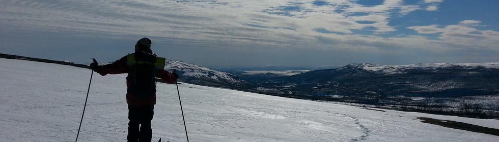 På ski over Vieksa