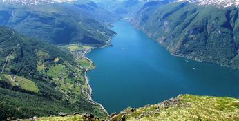 Aurlandsfjorden Foto: Noralv Distad