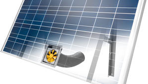 Solcelle og solventilator