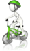 Syklist med hjelm