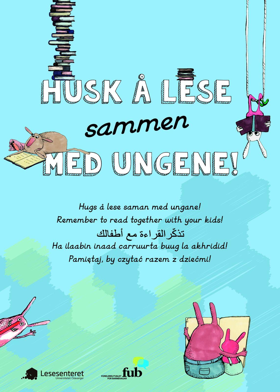 Husk å lese sammen med ungene, Plakat 50x70 (bokmål og diverse språk, bilde).jpg