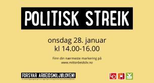 politisk streik