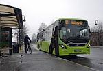 Buss ved Mjøndalen stasjon