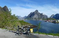 Bike on Lofoten Islands, Norway