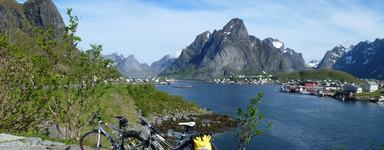 Bike on Lofoten Islands, Norway