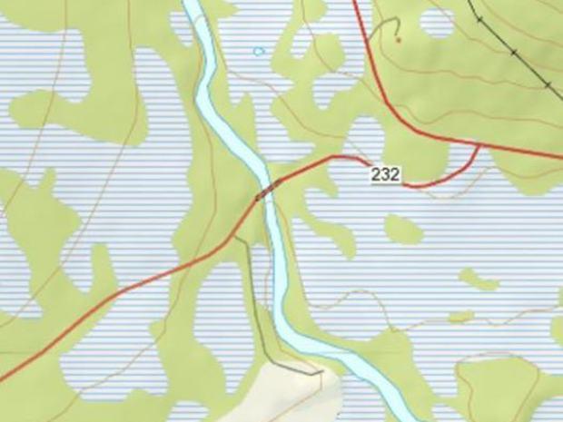 Kart til treningsterreng