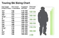 Touring Ski Sizing Chart