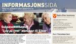 Informasjonssida i Eikerbladet januar 2016