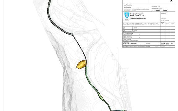 Plankart Flåm skule - klikk på kartet for større utgåve