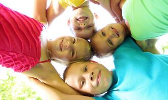 glade barn, fellesskap