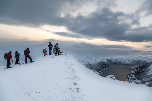 Snowshoe Hill Hike on Kvaløya, Tromsø Outdoor