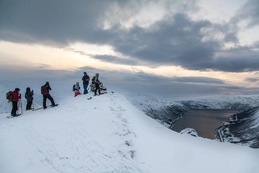 Snowshoe Hill Hike on Kvaløya, Tromsø Outdoor