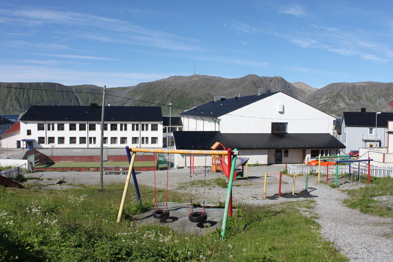 Honningsvåg skole lekeplass