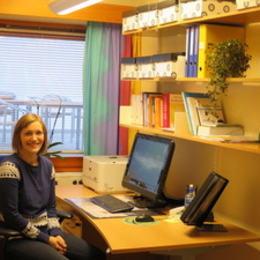 Bilde av Helena Marie Hykkerud på kontoret