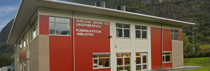 Aurland barne- og ungdomsskule; kunnskaptun, bibliotek