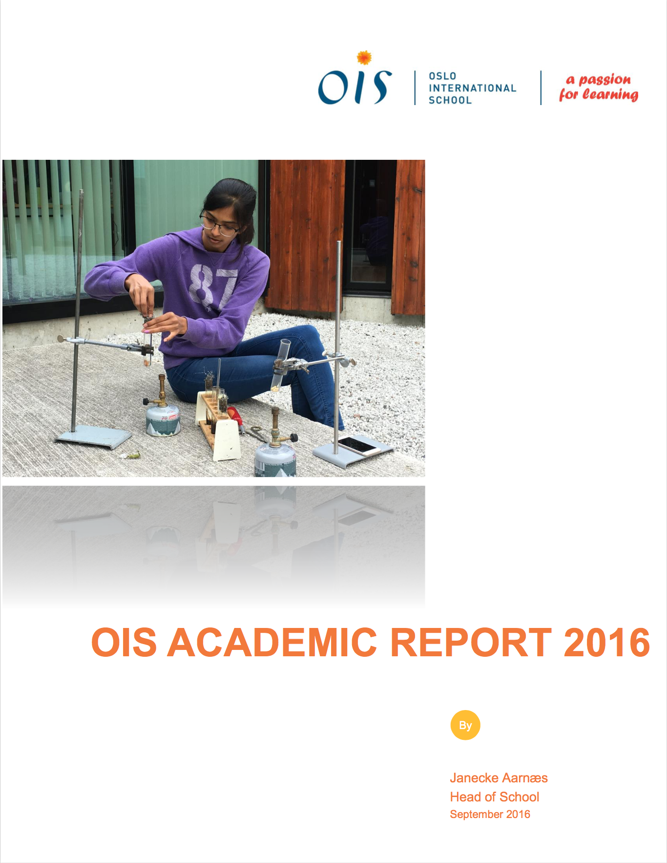 OIS Academic Report front page