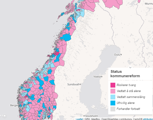 Kommunereform - kart