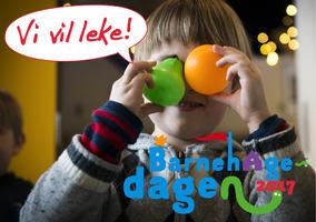 Plakat Barnehagedagen Vi vil leke