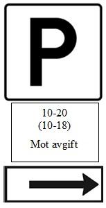skilt parkering