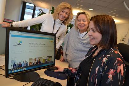 Ny nettside testes av FUB-leder og sekretariat
