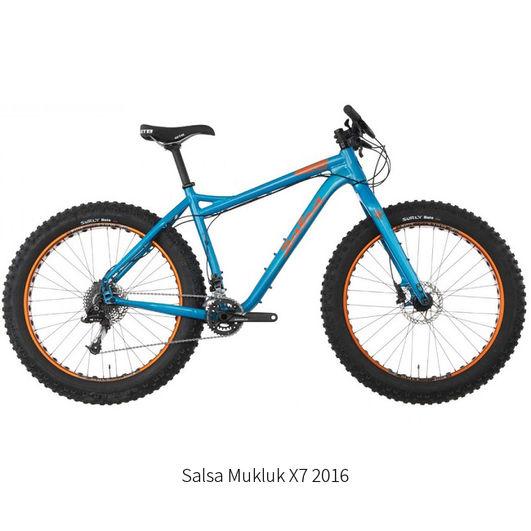 Salsa MUKLUK_X7_Blue_Bike 2016, Tromsø Outdoor rental fatbike