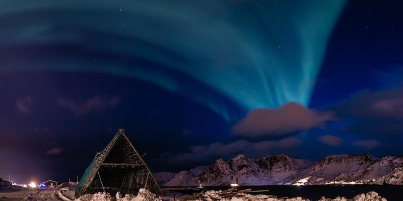Nordlys over Gjesvær