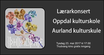 Konsert i Trudvang kino 23. mai 2017. Velkommen!