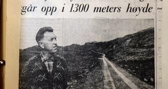 Aftenposten omtalte vegen allereie i september 1966
