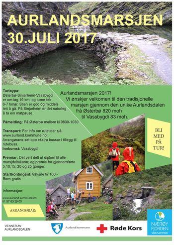 Aurlandsmarsjen 2017 plakat