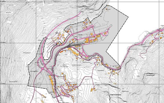 Områdeplan Flåm sentrum - planavgrensing