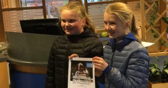 Elevane i 7. klasse ved Aurland barne- og ungdomsskule arrangerte turmarsj til inntekt for TV-aksjonen