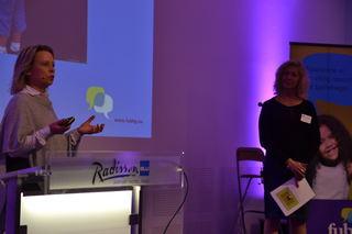 Åse-Berit Hoffart og Lou Noreen på Foreldrekonferansen