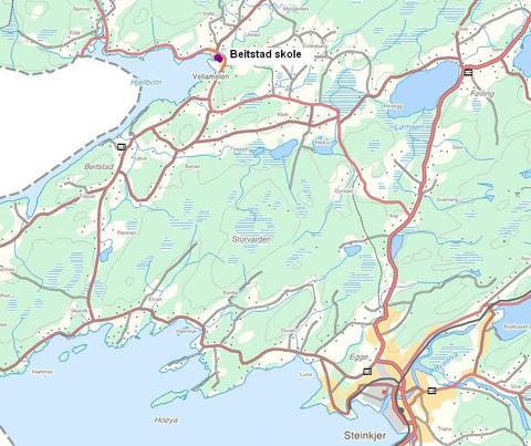 kart over steinkjer Steinkjer Kommune Kart   Hotelio kart over steinkjer