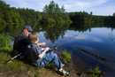 grandfather and grandson fishing 1