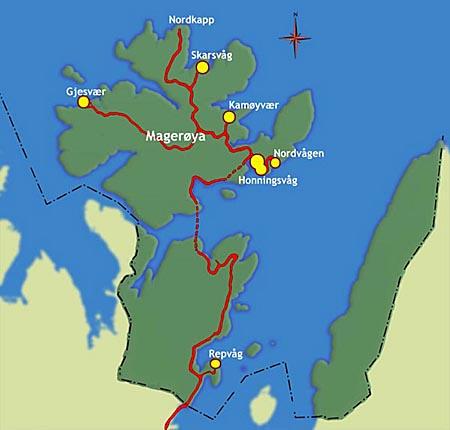 gjesvær kart Norge stein på stein. Nord Norge: Vest Finnmark: Nordkapp gjesvær kart